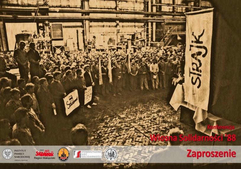 """Konferencja """"Wiosna Solidarności '88"""" /IPN"""