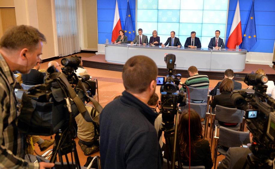 Konferencja ws. planów rządu na 2014 rok /Radek Pietruszka /PAP