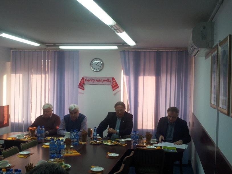 Konferencja z okazji otwarcia siedziby Małopolskiego Związku Piłki Nożnej /Piotr Jawor /INTERIA.PL