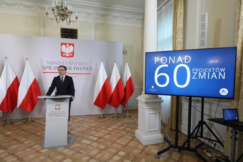 Konferencja Zbigniewa Ziobry /Paweł Supernak /PAP