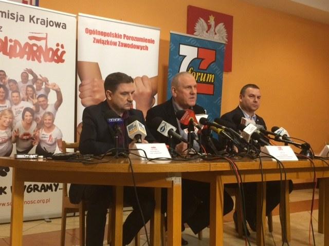 Konferencja związkowców /Magdalena Gawlik /RMF FM