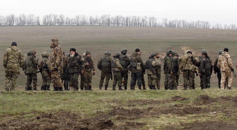 Konflikt w Donbasie rozpoczął się wiosną 2014 roku /AFP