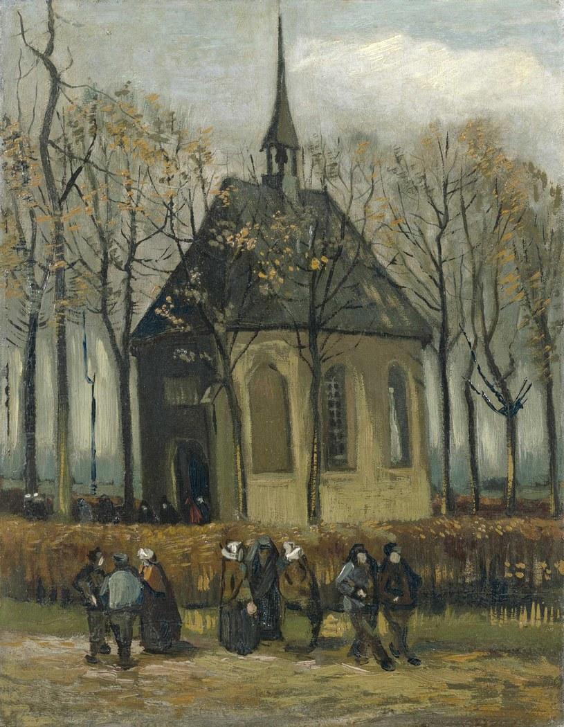 """Kongregacja opuszczająca kościół reformowany w Nuenen"" Vincenta van Gogha /VAN GOGH MUSEUM / HANDOUT /PAP"