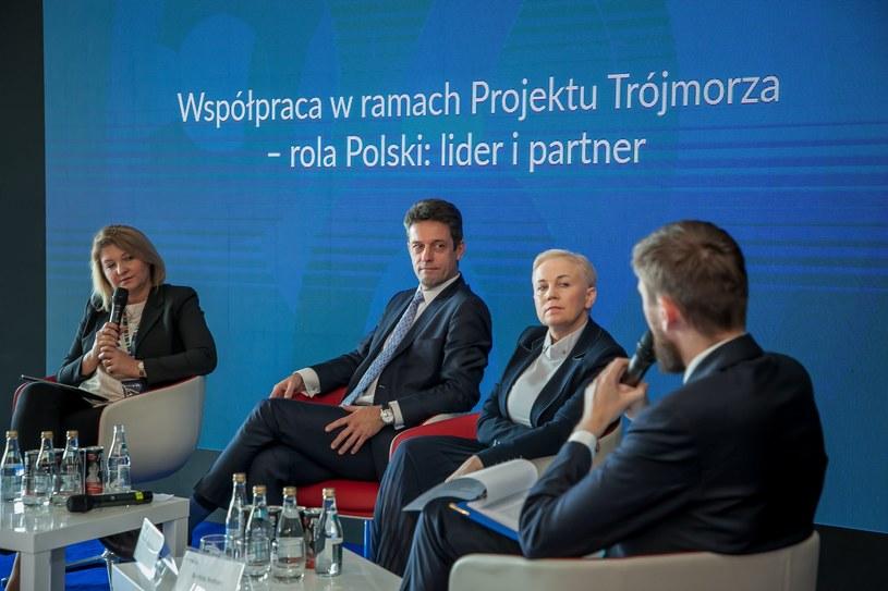 """Kongres 590, debata """"Współpraca w ramach projektu Trójmorza - rola Polski"""", fot. Ireneusz Rek /INTERIA.PL"""