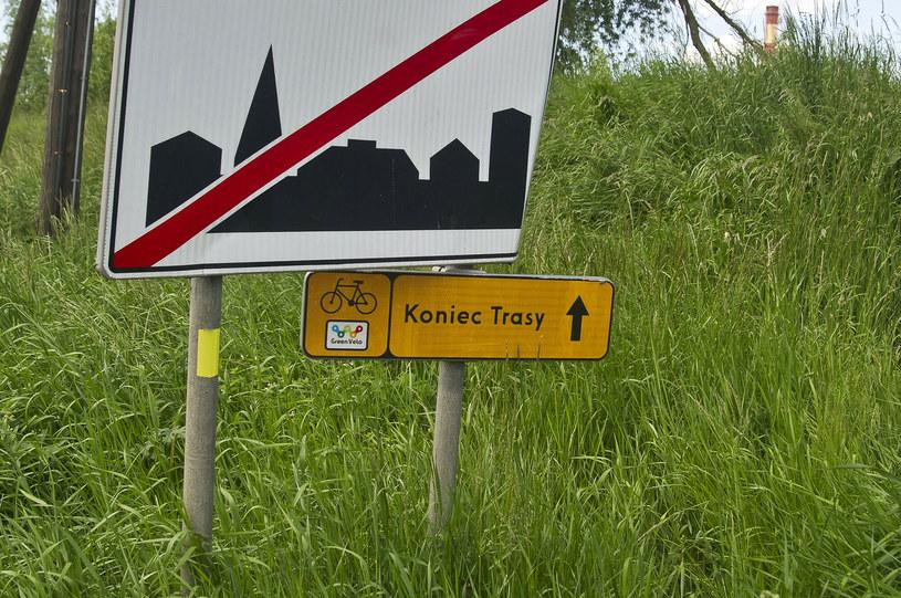 Koniec trasy szlaku rowerowego Green Velo /Stanislaw Bielski/REPORTER /East News