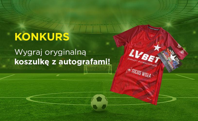 """Konkurs """"Koszulka Wisły Kraków z autografami"""" /INTERIA.PL"""
