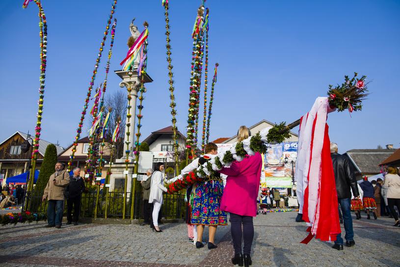 Konkurs Palm Wielkanocnych w Lipnicy Murowanej. Jeden z najbardziej znanych konkursów organizowanych w Niedzielę Palmową w Polsce /Piotr Tumidajski /Agencja FORUM