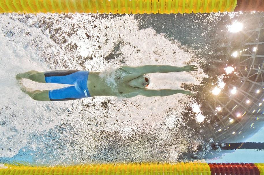 Konrad Czerniak w czwartkowych zawodach zajął drugie miejsce na 50 m kraulem /PATRICK B. KRAEMER /PAP/EPA