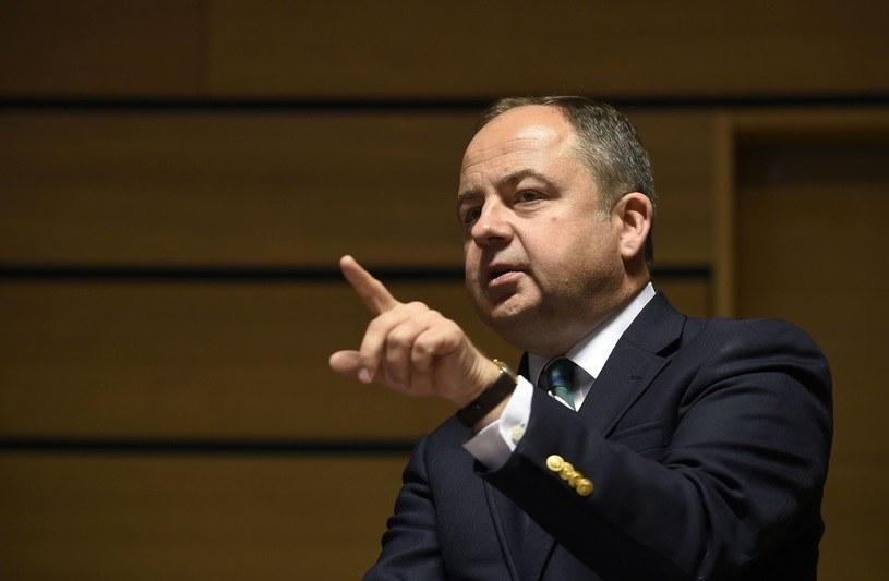 Konrad Szymański, minister do spraw Unii Europejskiej /JOHN THYS / AFP /East News