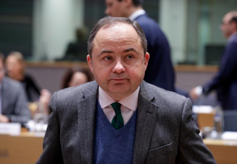 Konrad Szymański podczas spotkania ministrów ds. europejskich państw członkowskich w Brukseli /STEPHANIE LECOCQ  /PAP/EPA