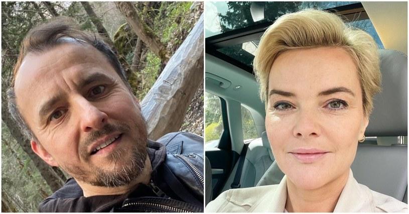 Konrad Wojterkowski, Monika Zamachowska, fot. https://www.instagram.com/konrad_wojterkowski_public/, https://www.instagram.com/monikarichardson/ /Instagram