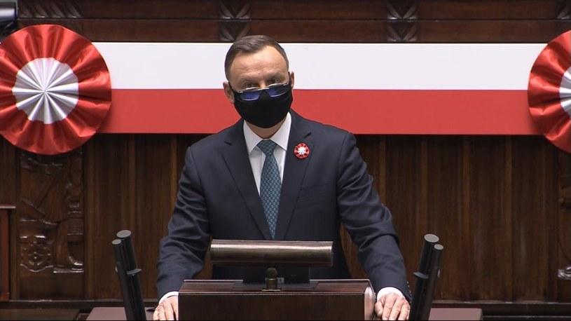 Konstytucja 3 maja zapisała się jako wzorzec uniwersalnych wartości - powiedział prezydent w Sejmie /Polsat News