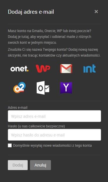 konta zewnętrzne /INTERIA.PL