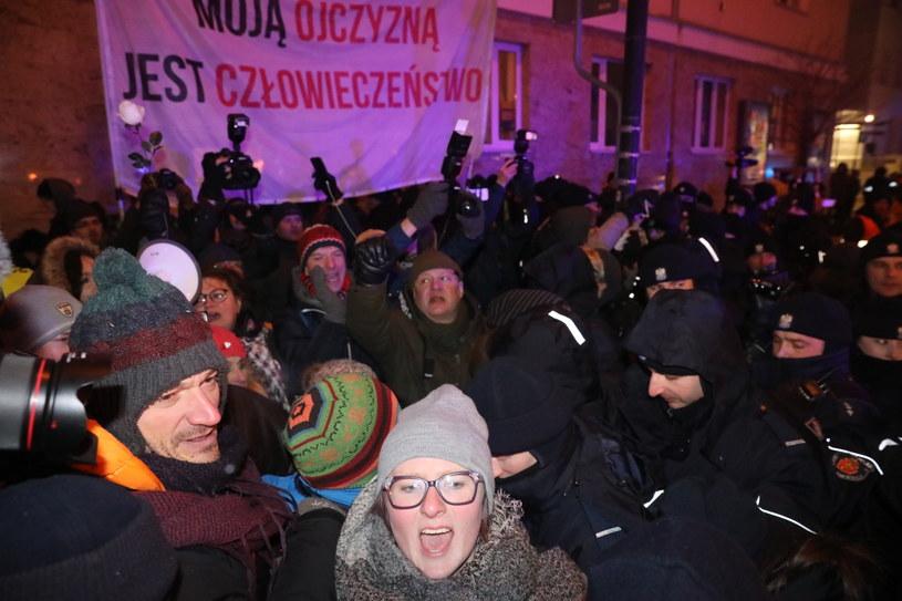 Kontrmanifestacja Obywateli RP /Tomasz Gzell   /PAP