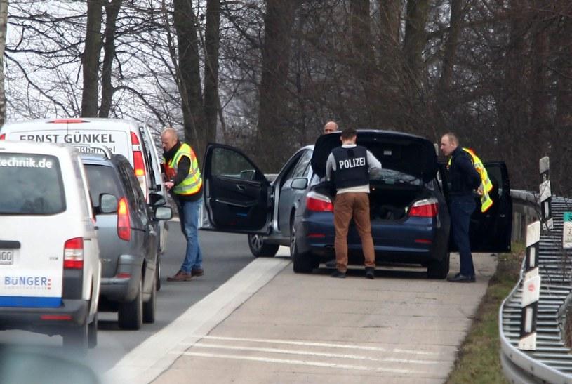 Kontrola graniczna na granicy belgijsko-niemieckiej /PAP/EPA