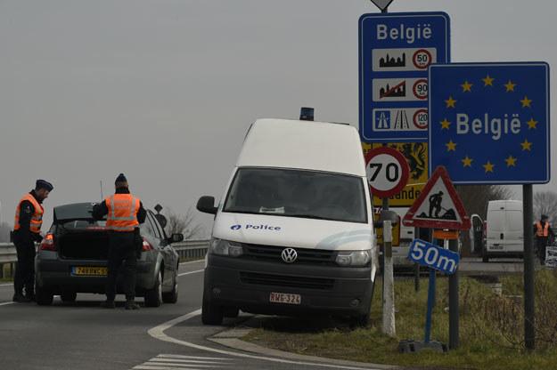 Kontrola na granicy belgijsko-francuskiej /AFP