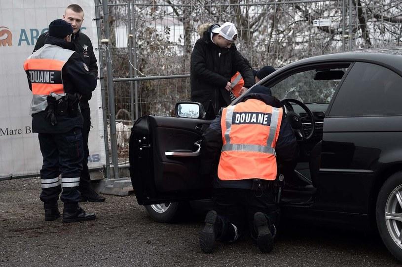 Kontrola na granicy niemiecko-francuskiej /AFP