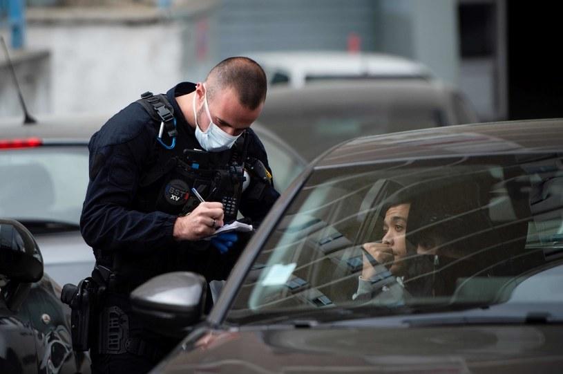 Kontrola policyjna w okolicach Marsylii /AFP