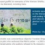 Kontrowersyjne graffiti na murach warszawskiego getta