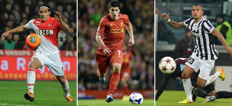 Kontuzjowane gwiazdy przed MŚ: Radamel Falcao, Luis Suarez i Arturo Vidal /AFP