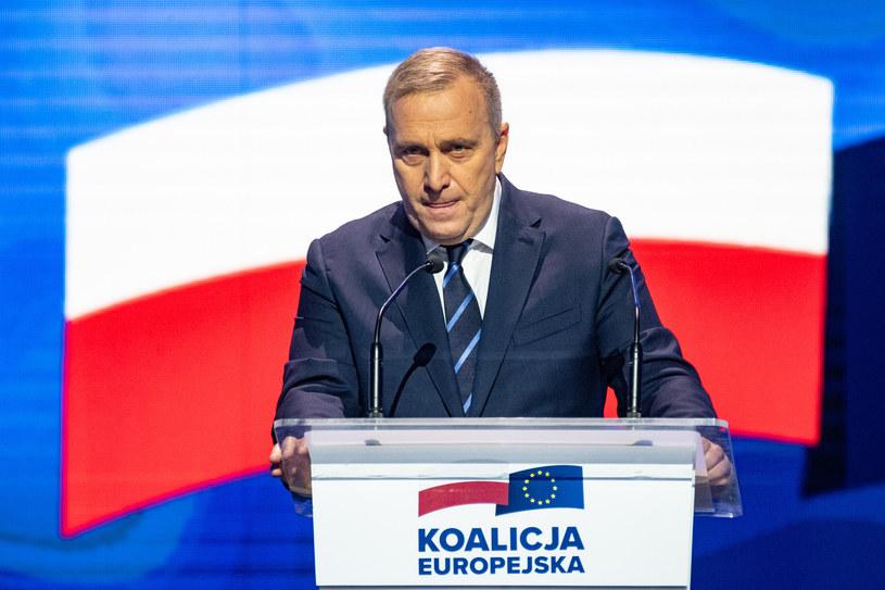 Konwencja Koalicji Europejskiej; na zdj. Grzegorz Schetyna /Jacek Dominski/REPORTER /East News