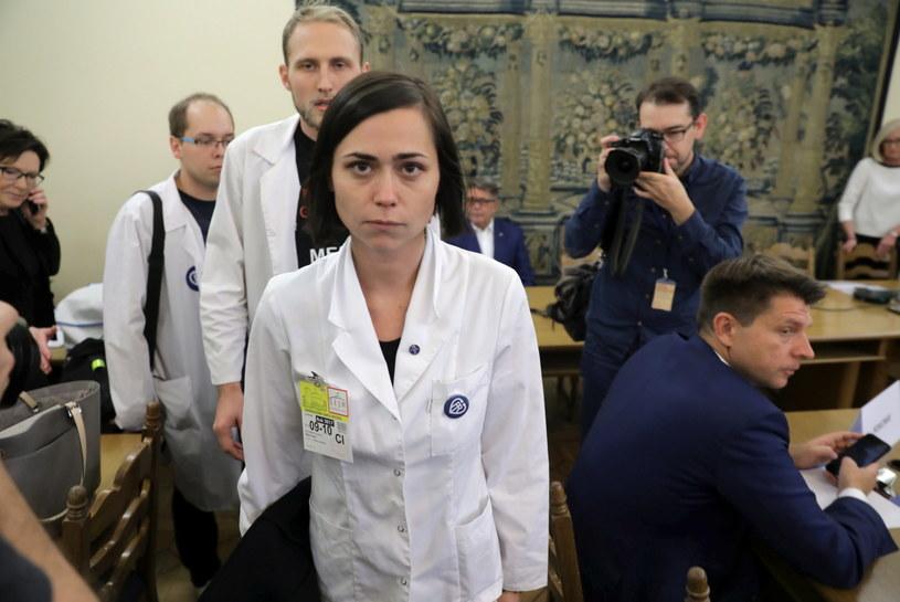 Koordynatorka protestu rezydentów Katarzyna Pikulska /Tomasz Gzell /PAP