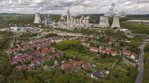 Kopalnia Turów, widok z drona /Aleksander Koźmiński /PAP