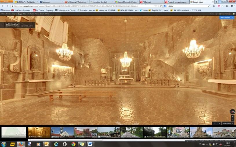 Kopalnie w Wieliczce można teraz zwiedzić dzięki Google Street View /materiały prasowe