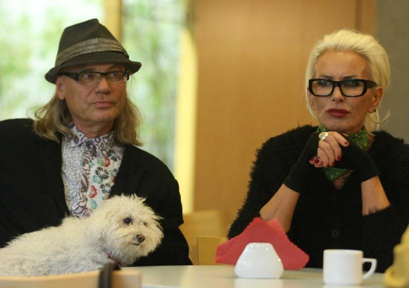 Kora i Marek Sipowicz z psem z psem Ramoną /Michał Dyjuk /Reporter