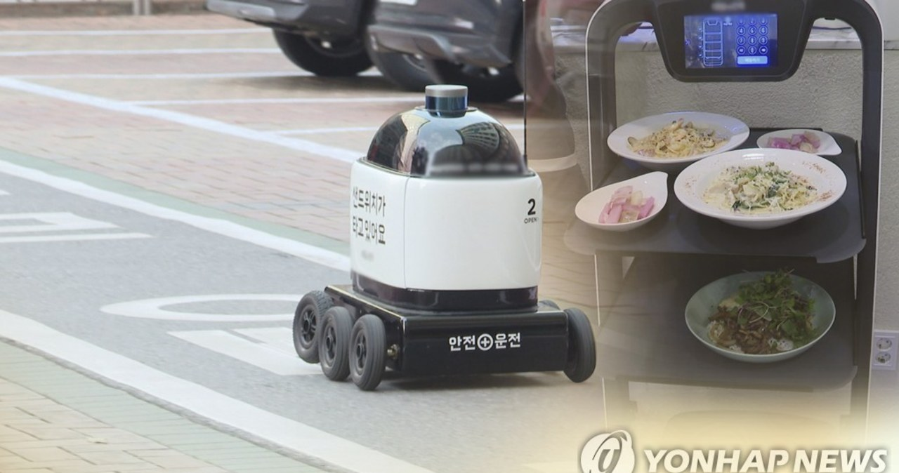 Korea Płd.: Autonomiczne roboty z kamerami będą jeździć wśród ludzi po chodnikach