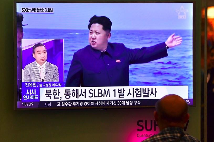 Korea Płn. wystrzeliła w środę rakietę balistyczną z okrętu podwodnego /JUNG YEON-JE /AFP