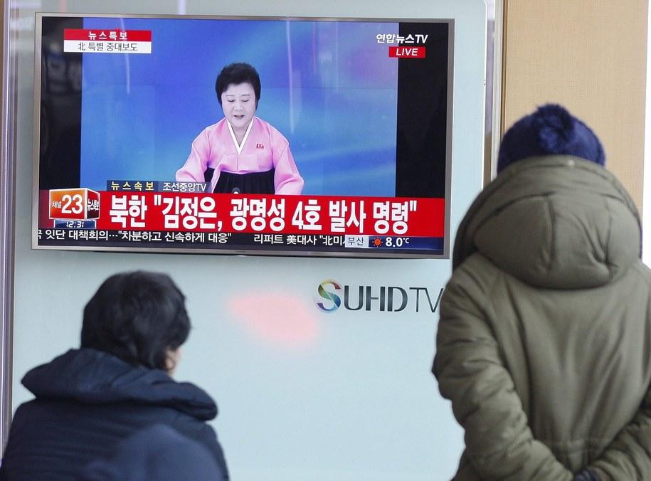 Korea Północna poinformowała, że wystrzeliła rakietę dalekiego zasięgu /KIM HEE-CHUL /PAP/EPA