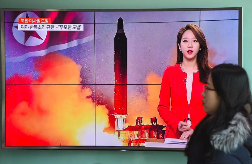Korea Północna wystrzeliła pocisk balistyczny /JUNG YEON-JE /AFP