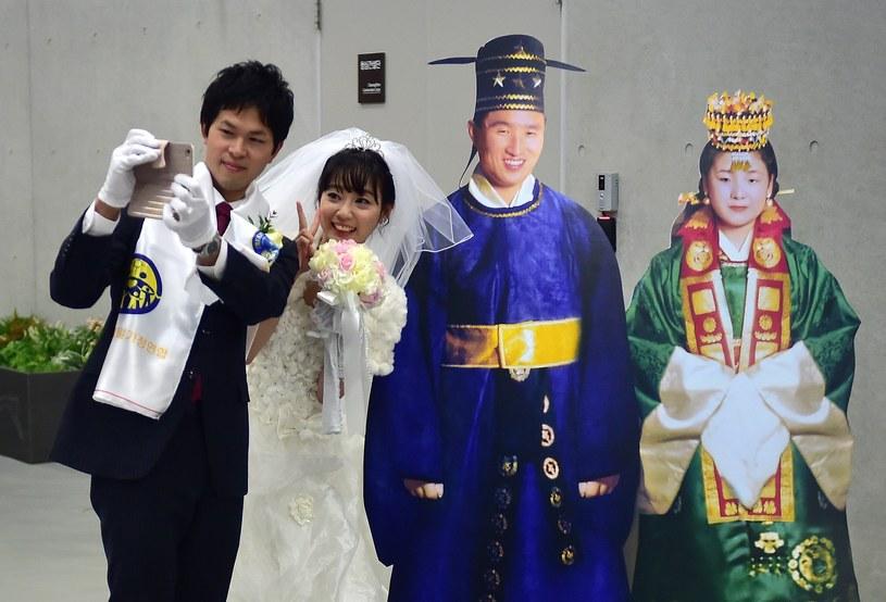 Korea Południowa: Zbiorowy ślub członków sekty Moona /AFP