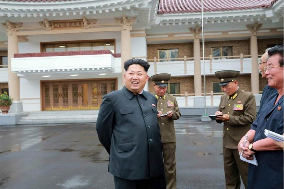 Koreański przywódca Kim Dzong Un /YONHAP / Rodong Sinmun   /PAP/EPA