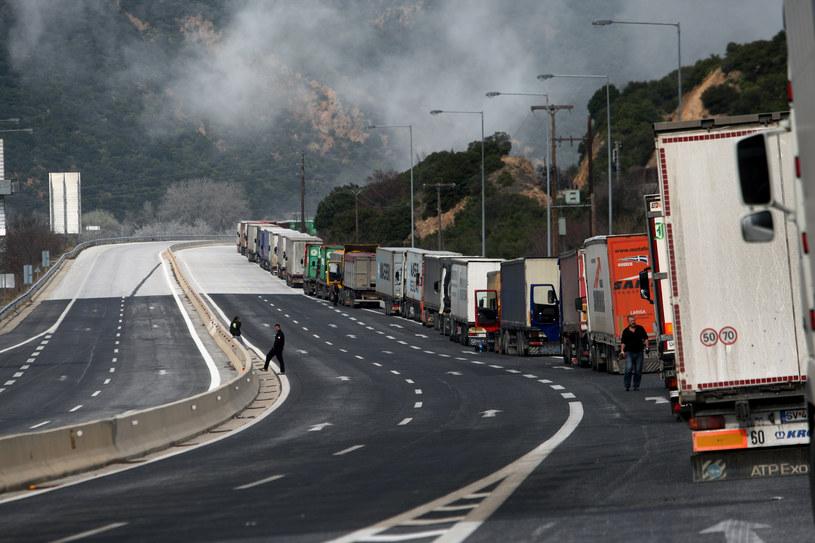 Korek na przejściu granicznym Kulata-Promachonas sięga prawie 40 kilometrów /AFP