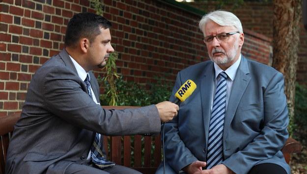 Korespondent RMF FM rozmawiał z szefem MSZ w rezydencji ambasady RP w Waszyngtonie /Paweł Żuchowski /RMF FM