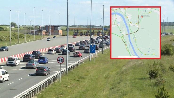 Korki na drogach; zdj. ilustracyjne; źródło: Polsat News/Google Maps /Polsat News