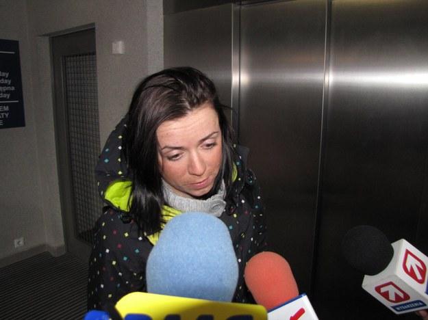 Kornelia Marek po przylocie na lotnisko w Balicach &nbsp /Maciej Grzyb /RMF FM