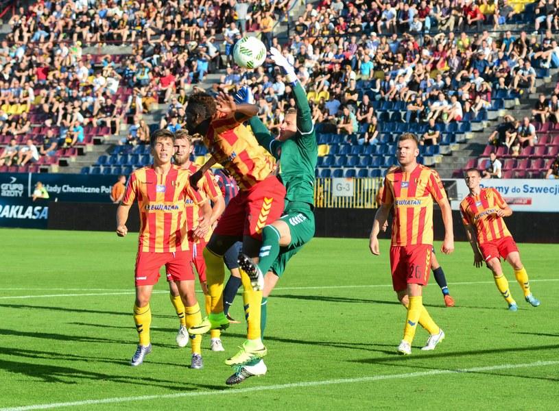 Korona w poprzednim sezonie ograła Wisłę u siebie 3-2 i zremisowała 1-1 /Łukasz Węgrzyn /