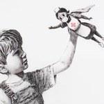 Koronawirus. Nowy obraz Banksy'ego pojawił się w szpitalu
