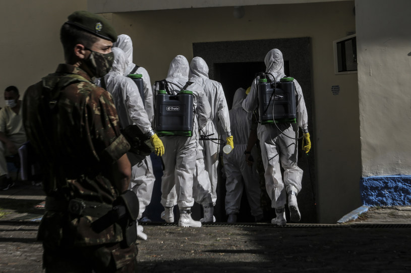Koronawirus w Brazylii /Luis Alvarenga /Getty Images