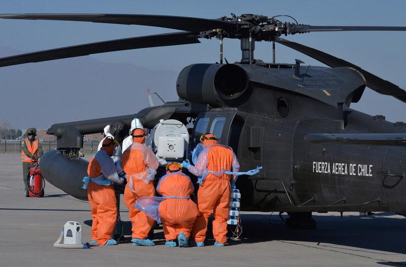 Koronawirus w Chile. /CHILEAN AIR FORCE / HANDOUT /PAP/EPA