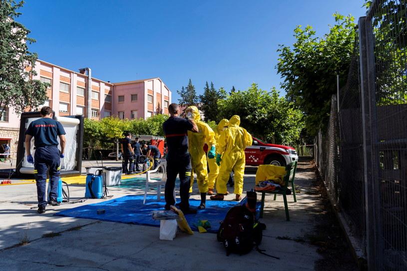 Koronawirus w Hiszpanii. Ognisko w domu opieki. /Antonio Garcia /PAP/EPA