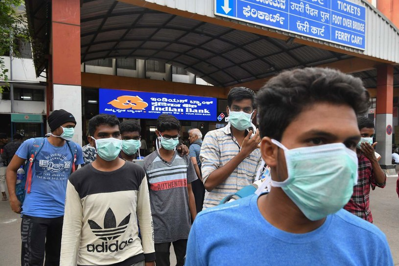 Koronawirus w Indiach /Manjunath KIRAN /AFP