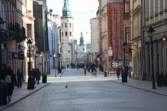 Koronawirus w Krakowie. Opustoszałe ulice