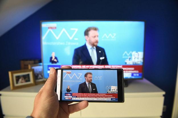 Koronawirus w Polsce. Transmisja konferencji prasowej ministra zdrowia Łukasza Szumowskiego / Radek Pietruszka   /PAP