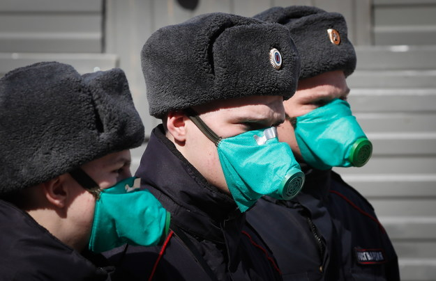 Koronawirus w Rosji /YURI KOCHETKOV /PAP/EPA