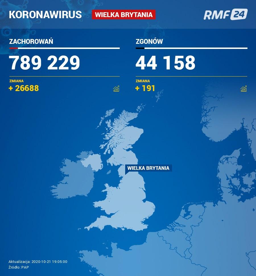 Koronawirus w Wielkiej Brytanii /RMF FM /RMF FM