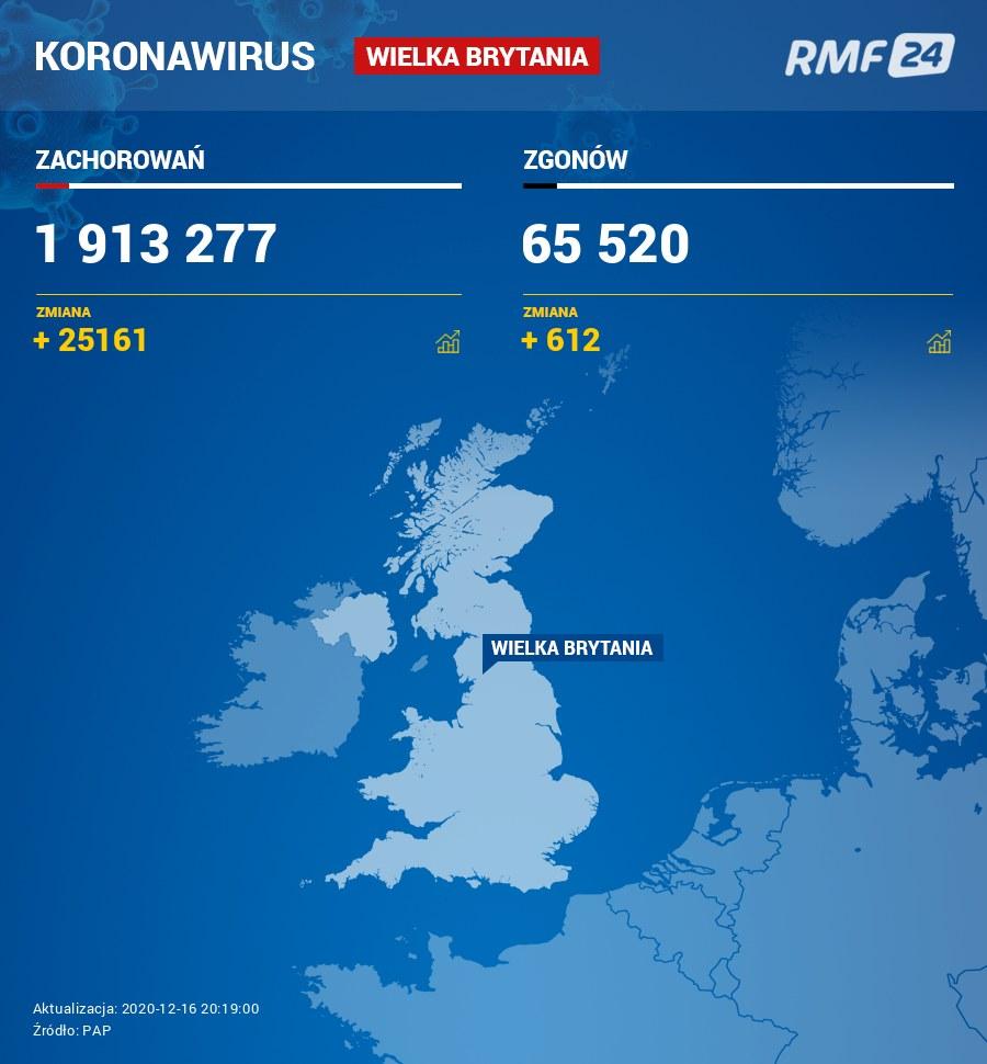 Koronawirus w Wielkiej Brytanii /RMF FM
